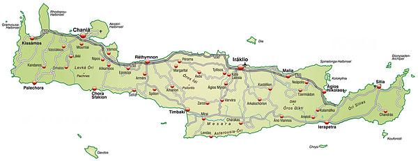 Kreta kart